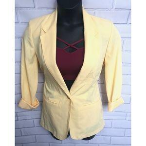Women's Yellow Blazer Size 6